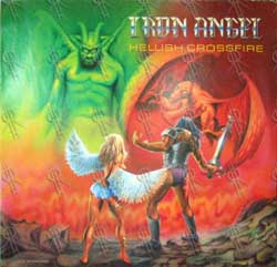 Iron Angel : Hellish Crossfire. Album Cover