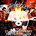 Girlschool : Not That Innocent - 21st Anniversery. Album Cover