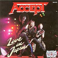 Accept : Live In Japan. Album Cover