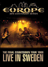 Europe : The Final Countdown Tour 1986 - 20th Anniversary Edition. Album Cover