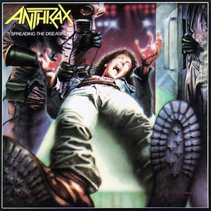 Anthrax : Spreading the disease (Anniversary edition). Album Cover